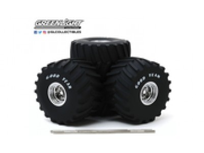 """1:18 Scale Monster Truck - 66"""" Wheel and Tire Set"""