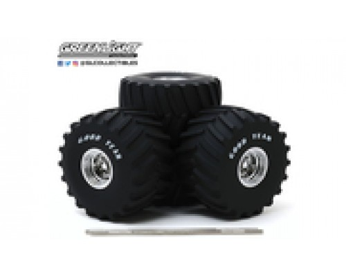 "1:18 Scale Wheels and Tyres Set - Monster Truck - 66"" Goodyear"