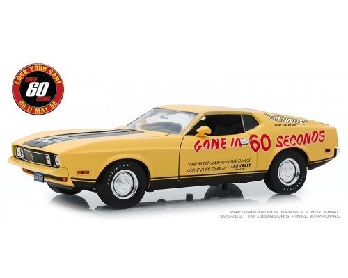 Greenlight 1:18 Gone in 60 Seconds 1973 Ford Mustang Mach 1 - Eleanor