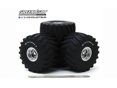 "Greenlight 1:18 Wheels and Tyres Set - Monster Truck - 66"" Firestone"