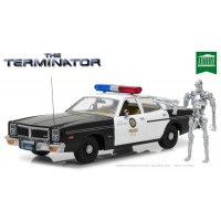 1:18 Scale The Terminator - 1977 Dodge Monaco Police Car with Figurine