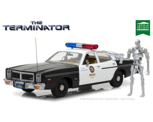 1:18 Scale The Terminator - Dodge Police Car with Endoskeleton