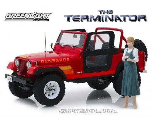 1:18 Scale The Terminator - Sarah Connor's 1983 Jeep CJ-7 Renegade