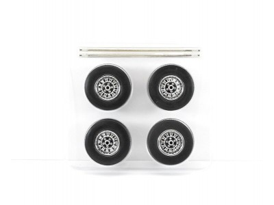 Greenlight 1:18 Mag Wheel and Tyre Set - 12 Slot Style