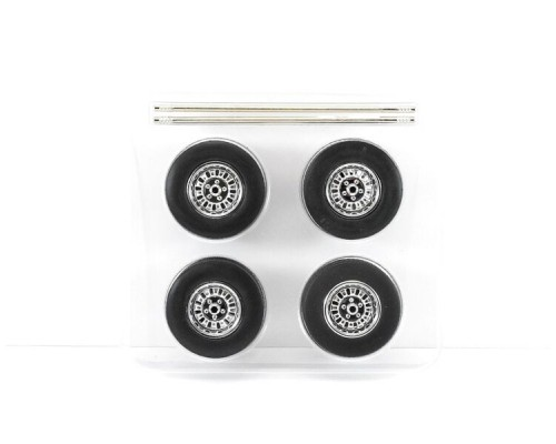 1:18 Scale Mag Wheel and Tyre Set Of 4 - 12 Slot Style
