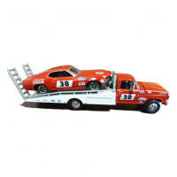 Greenlight 1:64 1969 Ford F-350 Tray Truck with Allan Moffat's #38 Mustang