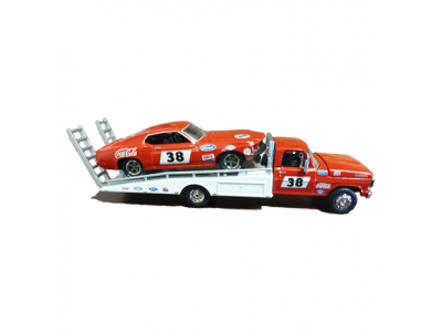 ACME 1:64 1969 Ford F-350 Tray Truck with Allan Moffat's #38 Mustang