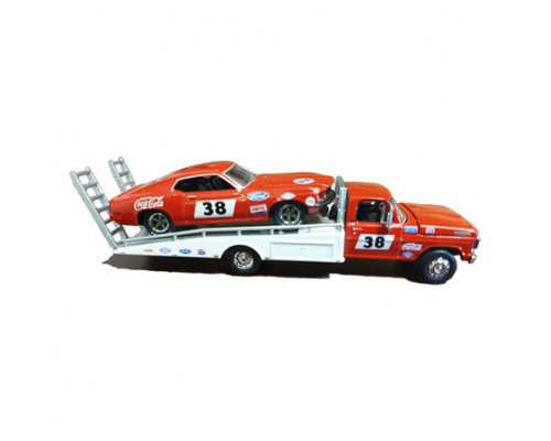 1:64 Scale 1969 Ford F-350 Tray Truck with Allan Moffat's #38 Mustang