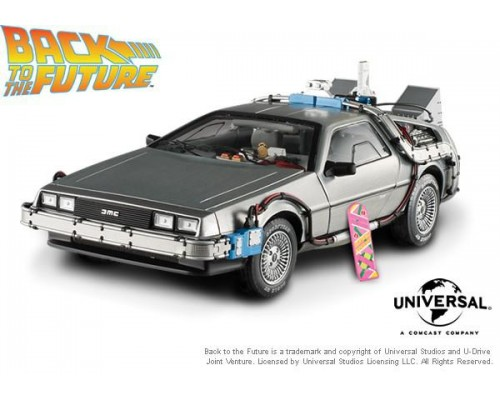 1:18 Scale Back To The Future  Time Machine with Mr.Fusion Delorean