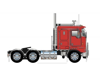 Iconic Replicas 1:50 Kenworth K100G Prime Mover - Red