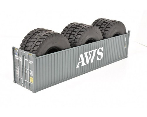 1:50 Scale 40Ft Shipping Container with Tyre Load - AWS