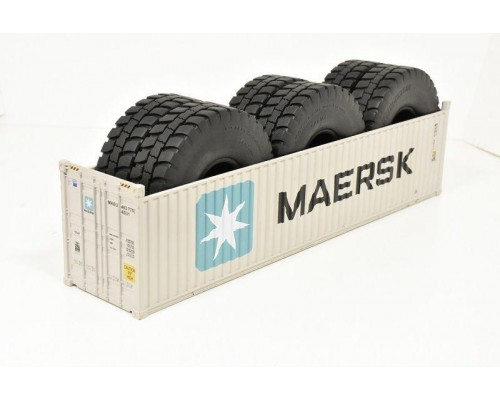 1:50 Scale 40Ft Shipping Container with Tyre Load - Maersk