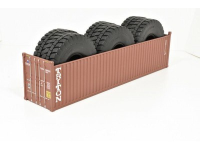 1:50 Scale 40Ft Shipping Container with Tyre Load - Triton
