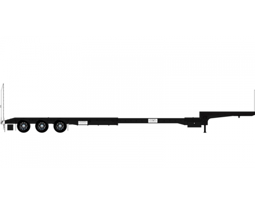 Iconic Replicas 1:50 Extendable Dropdeck Trailer and Dolly - Black