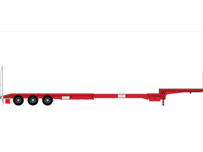 Iconic Replicas 1:50 Extendable Dropdeck Trailer and Dolly - Red