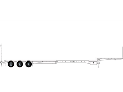 Iconic Replicas 1:50 Extendable Dropdeck Trailer and Dolly - White