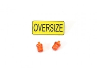 1:50 Scale Truck Oversize Sign and Emergency Warning Lights