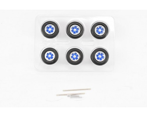1:50 Scale Spider Wheel Sets Blue by Iconic Replicas