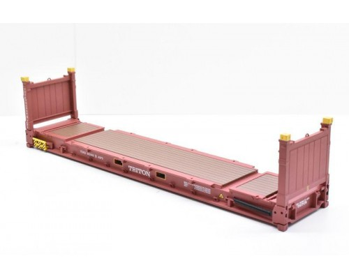 1:50 Scale 40Ft Flat Rack Shipping Container - Triton