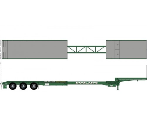 Iconic Replicas 1:50 Extendable Dropdeck Trailer and Dolly - Doolans