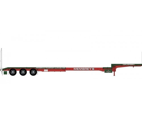 Iconic Replicas 1:50 Extendable Dropdeck Trailer and Dolly - Membrey