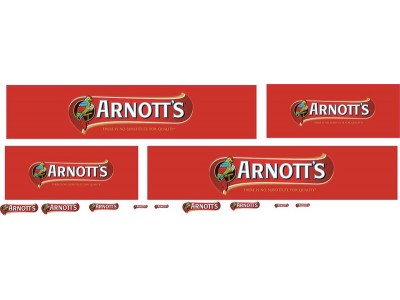 1:50 Decals - Jays Custom B-Double Trailer Set - Arnotts Biscuits Livery