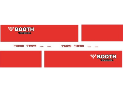 1:50 Decals - Jays Custom B-Double Trailer Set - Booth Transport