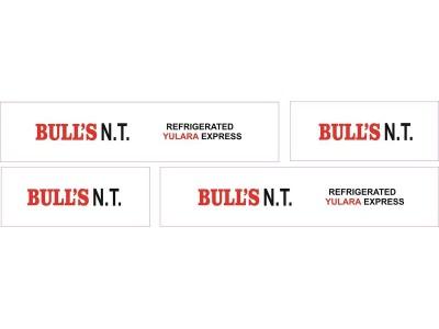 1:50 Decals - Jays Custom B-Double Trailer Set - Bull's NT Express Transport