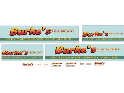 1:50 Decals - Jays Custom B-Double Trailer Set - Burke's Transport