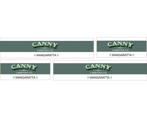 1:50 Decals - Jays Custom B-Double Trailer Set - Canny Carrying Co,