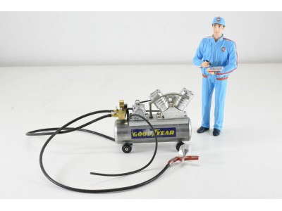 Jays Models 1:18 Goodyear Air Compressor with Spray Gun and Hoses