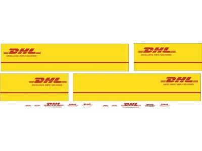 1:50 Decals - Jays Custom B-Double Trailer Set - DHL Transport