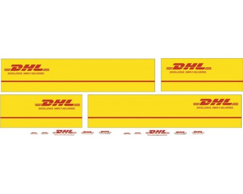 1:50 Decals - Jays Custom B-Double Trailer Set - DHL Transport