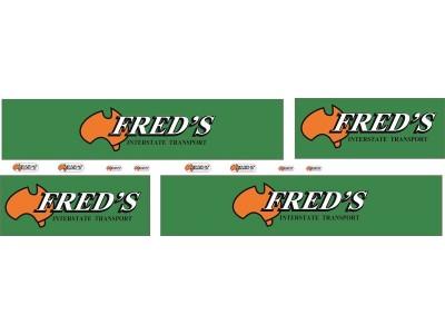1:50 Decals - Jays Custom B-Double Trailer Set - Freds Interstate Transport