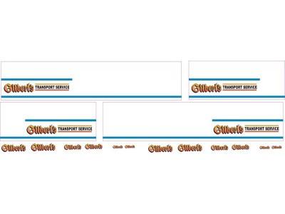 1:50 Decals - Jays Custom B-Double Trailer Set - Gilbert's Transport Service