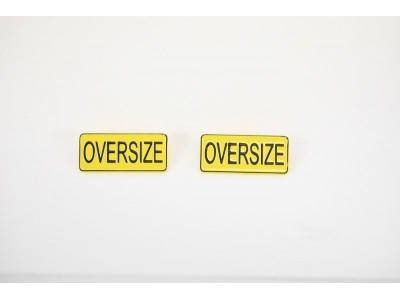 1:50 Scale Oversize Warning Signs - Qty 2