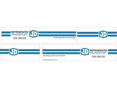 1:50 Decals - Jays Custom B-Double Trailer Set - JD Transport Group