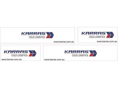 1:50 Decals - Jays Custom B-Double Trailer Set - Karras Cold Logistics