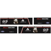 1:50 Decals - Jays Custom B-Double Trailer Set - Kelly Racing Team
