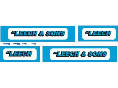 1:50 Decals - Jays Custom B-Double Trailer Set - Leech and Sons