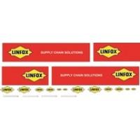 1:50 Decals - Jays Custom B-Double Trailer Set - Linfox Transport