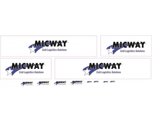 1:50 Decals - Jays Custom B-Double Trailer Set - Micway Refrigerated Transport