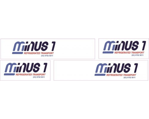 1:50 Decals - Jays Custom B-Double Trailer Set - Minus 1 Transport