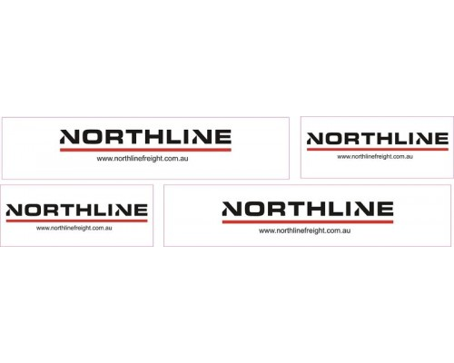 1:50 Decals - Jays Custom B-Double Trailer Set - Northline Global Logistics