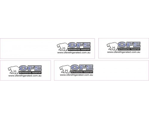 1:50 Decals - Jays Custom B-Double Trailer Set - OFE Refrigerated Transport
