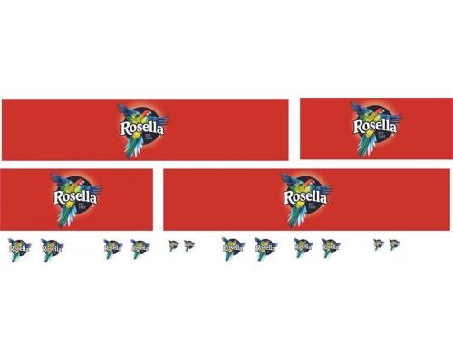 1:50 Decals - Jays Custom B-Double Trailer Set - Rosella Livery