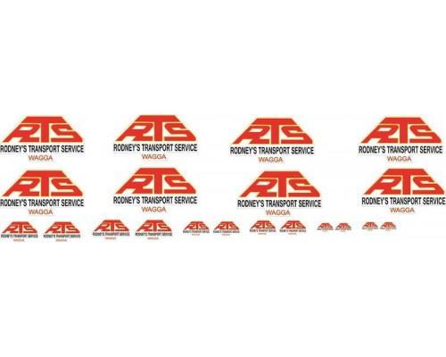 1:50 Decals - Jays Custom B-Double Trailer Set - Rodney Transport Services