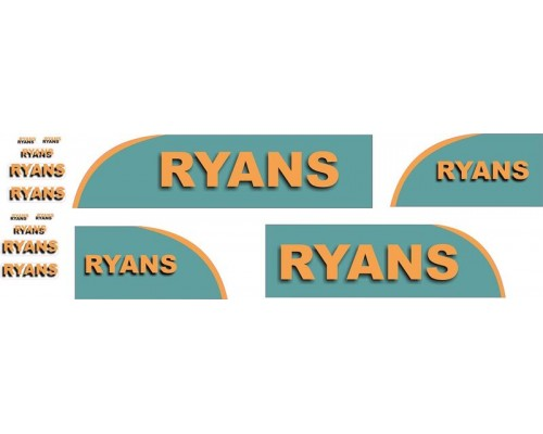 1:50 Decals - Jays Custom B-Double Trailer Set - Ryans Transport
