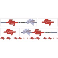 1:50 Decals - Jays Custom B-Double Trailer Set - SCT Logistics