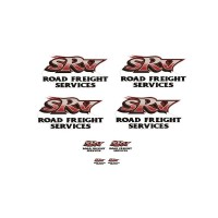 1:50 Decals - Jays Custom B-Double Trailer Set - SRV Road Freight Services